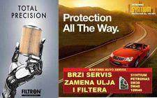 41% popusta na brzi servis automobila (zamena ulja i filtera) sa kompletnim pregledom vozila!